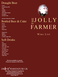 View The Jolly Farmer Menu